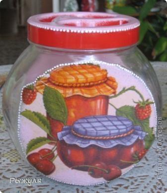 Были у меня стеклянные грустные баночки, хранили мы там травку(чабрец, календулу и мелиссу) для добавления в чай.  фото 2
