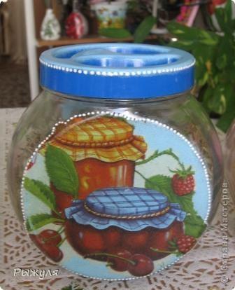 Были у меня стеклянные грустные баночки, хранили мы там травку(чабрец, календулу и мелиссу) для добавления в чай.  фото 3