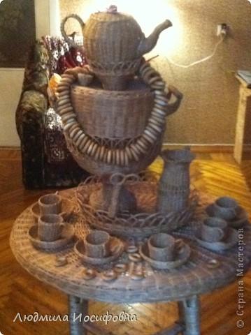 Стол, самовар и чайный набор. Приглашаем на чаепитие... фото 1