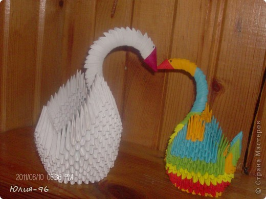 Мои первые  работы в технике Модульное оригами!!!!! фото 2