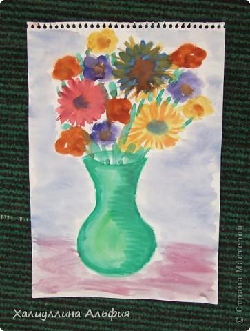 """Моя маленькая двоюродная сестричка Линара пришла в гости, увидела кисточки в стакане и сказала: """"Давай рисовать"""". Честно говоря, я сама очень обрадовалась ее предложению, потому что я сама очень давно не рисовала ... фото 9"""