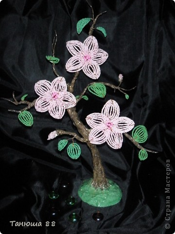 бонсай с розовыми цветами фото 1