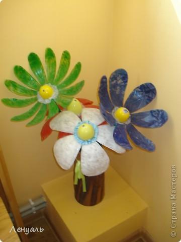 Цветы из бутылок. фото 1