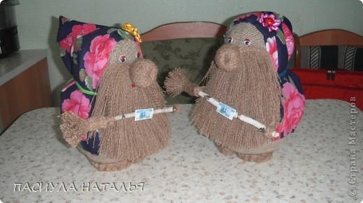 вот такой чеснок с перчиками получился мк в стране мастеров брала, в основе коса из лыко. фото 2
