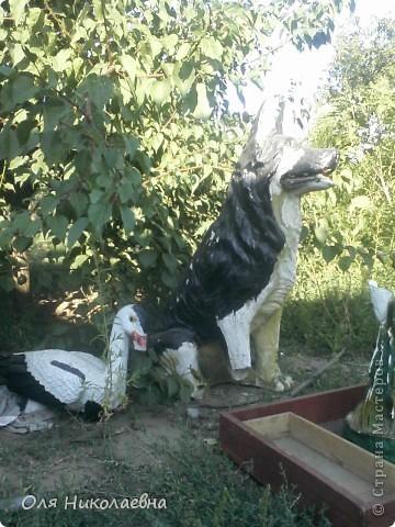 Вот такая милая собака (керамическая фигура), в ужасном состоянии, была выброшена и подобрана нами. фото 3