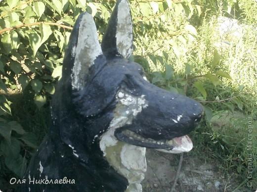 Вот такая милая собака (керамическая фигура), в ужасном состоянии, была выброшена и подобрана нами. фото 7