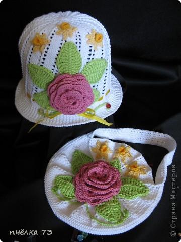 Моя долгожданная шапочка для дочки (спасибо Галине с Осинки) фото 2