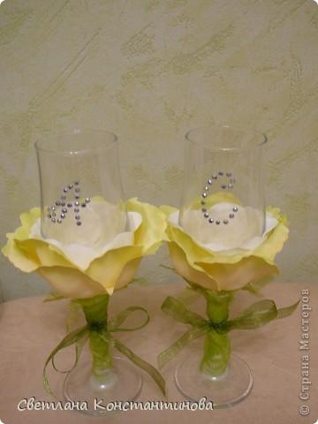 Эти бокалы с нашими инициалами наша дочка подарила нам вчера в честь 15-летней годовщины свадьбы фото 1