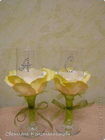 Эти бокалы с нашими инициалами наша дочка подарила нам вчера в честь 15-летней годовщины свадьбы фото 2