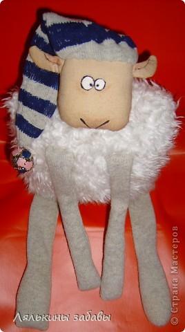 """по мотивам иллюстраций""""овечка Рассел"""" сидя 20 см,стоя-40см Лапки утяжелены пластиковым гранулятом. фото 3"""