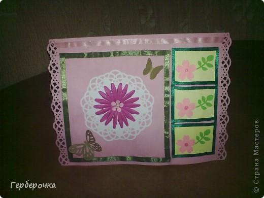 По скетчу в верхней части открытки лучше бы подошла надпись,но я решила заменить ее на цветок. фото 1