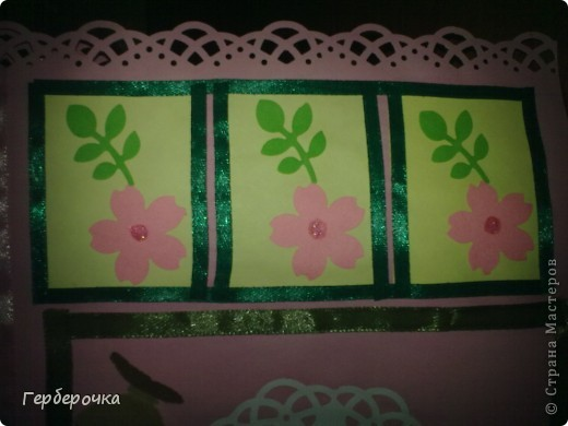 По скетчу в верхней части открытки лучше бы подошла надпись,но я решила заменить ее на цветок. фото 3