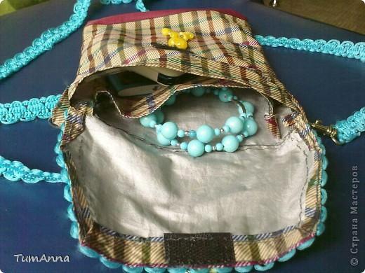 В прошлом году срочно понадобилась сумочка для всяких мелочей, т.к. под рукой не было ничего кроме старого зонтика.......не удержалась :)))) фото 3