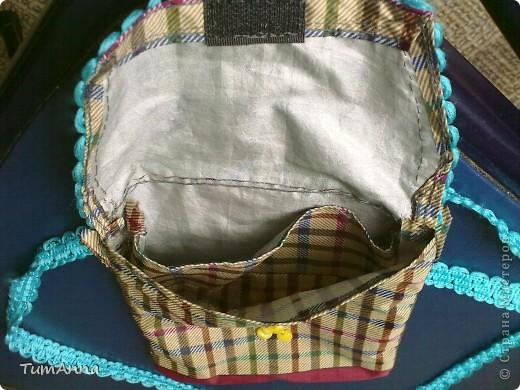 В прошлом году срочно понадобилась сумочка для всяких мелочей, т.к. под рукой не было ничего кроме старого зонтика.......не удержалась :)))) фото 2