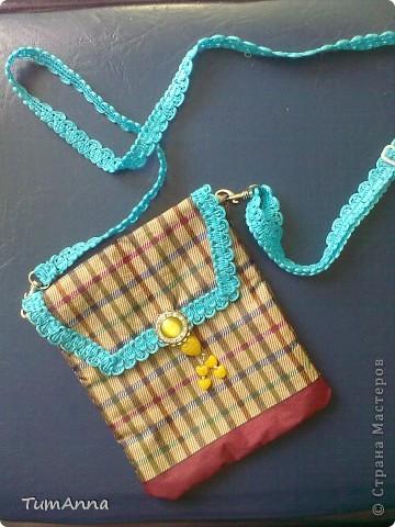 В прошлом году срочно понадобилась сумочка для всяких мелочей, т.к. под рукой не было ничего кроме старого зонтика.......не удержалась :)))) фото 1