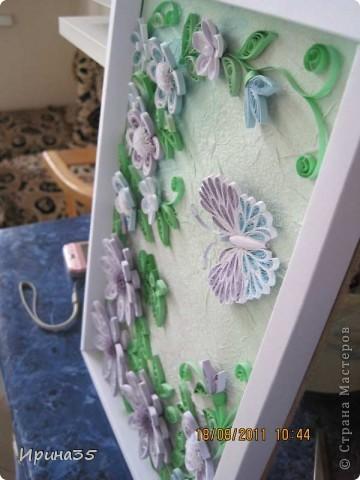 Вот такое панно было мной изготовлено с целью дарения на день рождения куме. Хотелось чего-нибудь нежного. Насмотревшись работ в СМ, за идею взяла работы Ольги V, поэтому хочу выразить ей свою благодарность. фото 9
