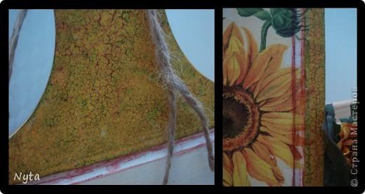 Мамуле очень нравятся подсолнухи... Этот наборчик для кухни я сделала для неё)))) фото 3
