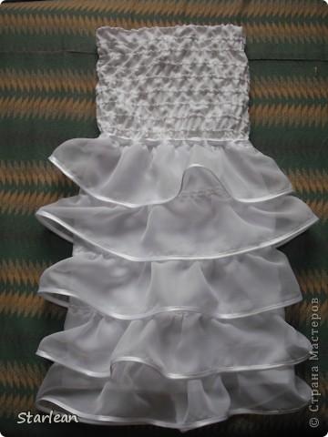 Вообще я не умею шить, если только что-то прострочить. но как получилось это платье, сама удивляюсь. Нам понадобится: ткань для топа - сорочечная (похожа на стрейч) ткань для юбки - сорочечная (хлопок), органза (у меня были обрезки от штор), косая бейка резинка шляпная, тонкая фото 14