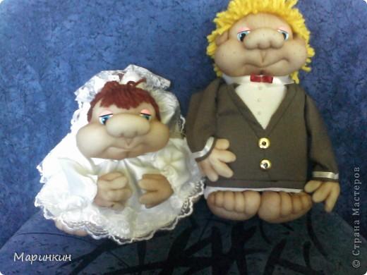 Заказали вчера Жениха с Невестой а, свадьба сегодня...и как говорится на скорую руку что смогла сделала. Главное что заказчик остался довольным.  фото 1