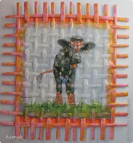Сегодня у меня не много совсем :) Всего две плетенки... осталось еще две сделать, чтобы завершить то что задумано по плану :) Ну а пока вот такие забавные представители коровьего семейства :) фото 2
