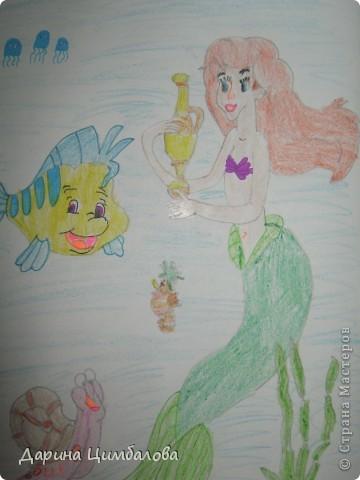 Ариель с рыбкой Флаундер фото 1
