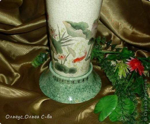 В Китае рыбки - символ денег, благополучия и процветания семьи. При этом даже количество и цвет рыбок имеет значение, можно использовать 1, 4, 6, 9 или кратное. На вазе изображены 9 рыбок арована, известных как Рыба – Дракон. фото 6