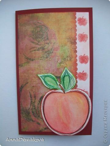 Вот такая открыточка у меня получилась. Сделала буквально за пол-часа. Правда яблочко было уже готовое. фото 1