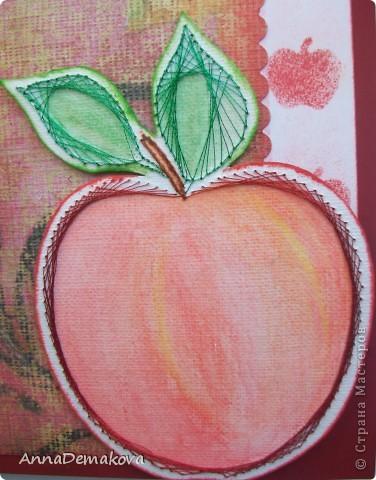 Вот такая открыточка у меня получилась. Сделала буквально за пол-часа. Правда яблочко было уже готовое. фото 2