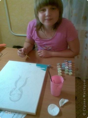 Моя дочь Лиза увлеклась раскрашиванием по номерам. фото 2