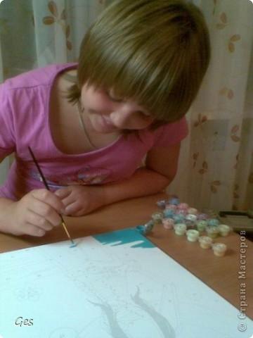 Моя дочь Лиза увлеклась раскрашиванием по номерам. фото 3