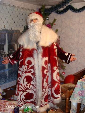 Этот костюм Деда Мороза мы сшили с коллегой Сапыцкой Е.А. для школьной елки.