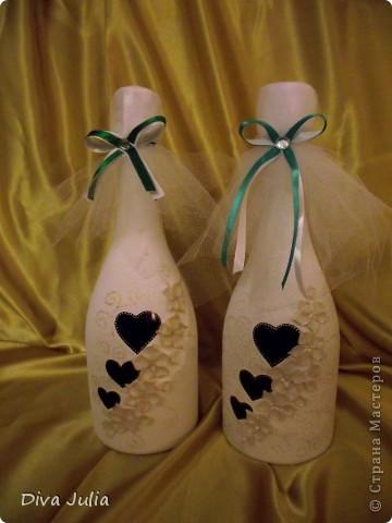 Свадебный набор. Пожелание невесты, чтобы ленточка была бирюзовая под пригласительные, и много-много белого цвета. Еще будет свадебная рамочка, выложу позже фото 6