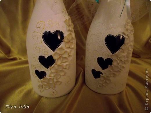 Свадебный набор. Пожелание невесты, чтобы ленточка была бирюзовая под пригласительные, и много-много белого цвета. Еще будет свадебная рамочка, выложу позже фото 7