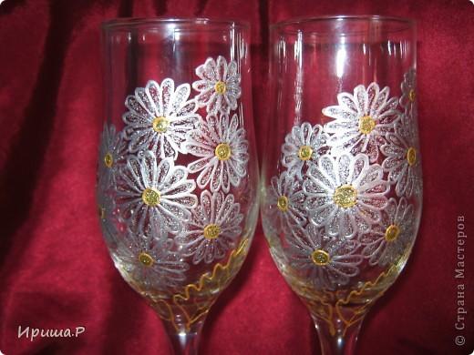 Захотелось полевой романтики...Такие бокалы могут сгодиться на годовщину свадьбы... фото 2