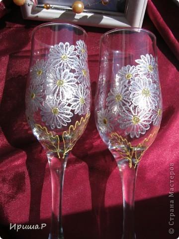 Захотелось полевой романтики...Такие бокалы могут сгодиться на годовщину свадьбы... фото 3