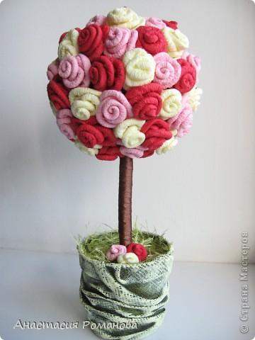 Подружка попросила вырастить для нее розовое дерево именно в такой цветовой гамме, подобная работа у меня уже есть http://stranamasterov.ru/node/158056 фото 5