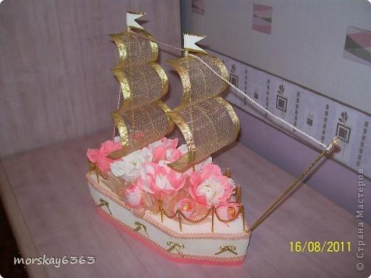 Попросили сделать корабль в подарок на свадьбу на мой вкус.  И корабль получился с секретом. фото 1