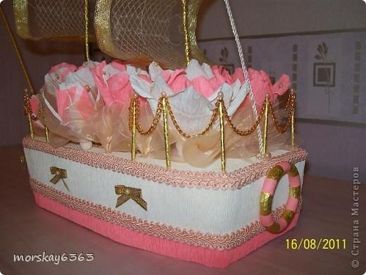 Попросили сделать корабль в подарок на свадьбу на мой вкус.  И корабль получился с секретом. фото 2