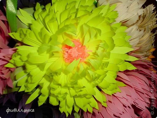 Вот такой у меня получился Микс-букет. Сделала Баккишар по МК Хельги Потаки. В описании было написано, что его можно использовать как основу для цветочной кусудамы... Какие я только цветы к ниму не прилаживала, ну все не то... А тут увидела работы по квиллингу и сделала один цветочек на пробу. Приложила к кусудаме и поняла - это то, что мне нужно!!! фото 3
