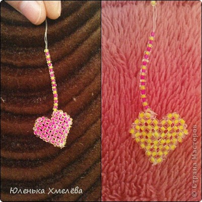 Моя первая работа - сердечко-брелок =)
