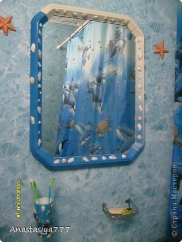 Ванна у меня в морском стиле, вот решила стаканчик в тему сделать:)))))))) по-моему мило получилось, рыбки класс! тропические:))))) использовала 3D-гель фото 4