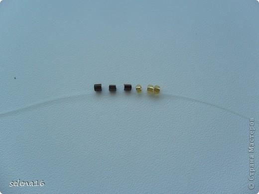 Золотистый бисер №10 и рубка шоколадного цвета. фото 2
