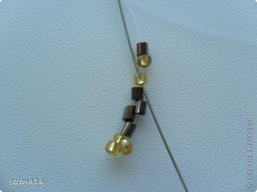 Золотистый бисер №10 и рубка шоколадного цвета. фото 8