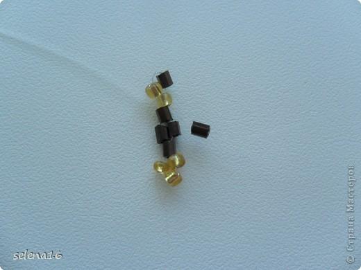 Золотистый бисер №10 и рубка шоколадного цвета. фото 10