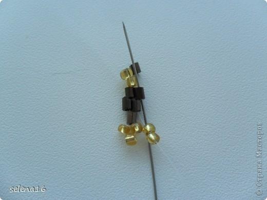 Золотистый бисер №10 и рубка шоколадного цвета. фото 13