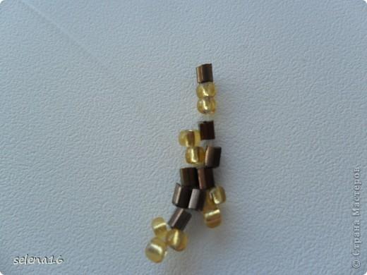 Золотистый бисер №10 и рубка шоколадного цвета. фото 18