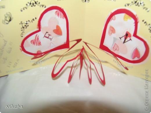Моя первая открытка сделанная на день Валентина. фото 2