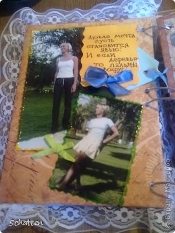 """Это моя скромная """"открытка"""" коллеге. Она очень любит мое """"творчество"""", поэтому придумалось """"такое"""" чудо. Это сложно назвать скрапбукингом, но я старалась. фото 2"""