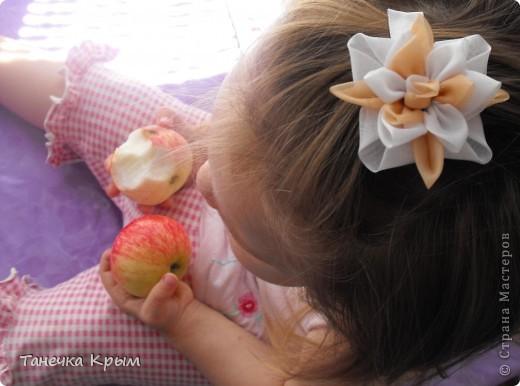 персиково-белая заколочка
