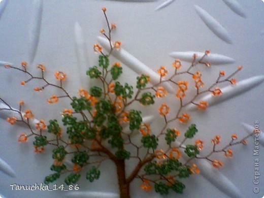 плетем листики петельной техникой. 5 петелек по 5 бисеринок  фото 7
